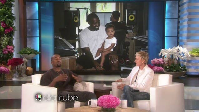 """Will there be a sibling for North West in the future? According to Kanye, hopefully! He shared with Ellen that him and Kim are trying for another. How many does papa Ye want? """"I just want whatever Kim wants"""" he said. Good answer Kanye, good answer."""