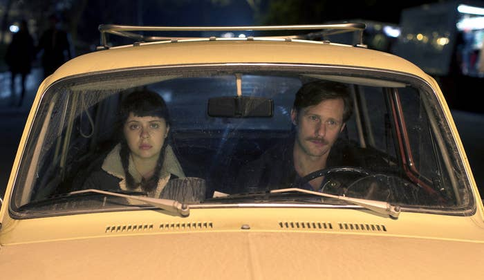 """Growing up is never easy, but Minnie (Sundance breakout Bel Powley) has a particularly rough time of it after getting involved in a relationship with her mom's boyfriend, Monroe (Alexander Skarsgård). Their secret hookups leave Minnie confused and emotionally wrenched around, but are themselves voracious and raw, an encapsulation of her sexual awakening and overflowing sensuality. The film is daringly frank in depicting the sex in which Minnie engages, with Monroe and with others, portraying it frankly, without a sense of prurience or judgment, and with the understanding that showing its heroine's desire and enjoyment of what she does in bed doesn't equal a stamp of approval for her illegal, unhealthy relationship. That said, the most provocative scene isn't one that takes place during sex at all, but immediately after, when Monroe has taken Minnie's virginity. As they're tangled together in bed in the aftermath, she wets her finger with her own blood and uses it to draw an """"X"""" on Monroe's leg, the moment one of shocking triumph. —A.W."""