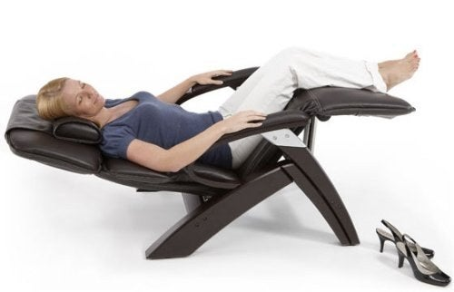 Image result for person in gravity chair with blanket