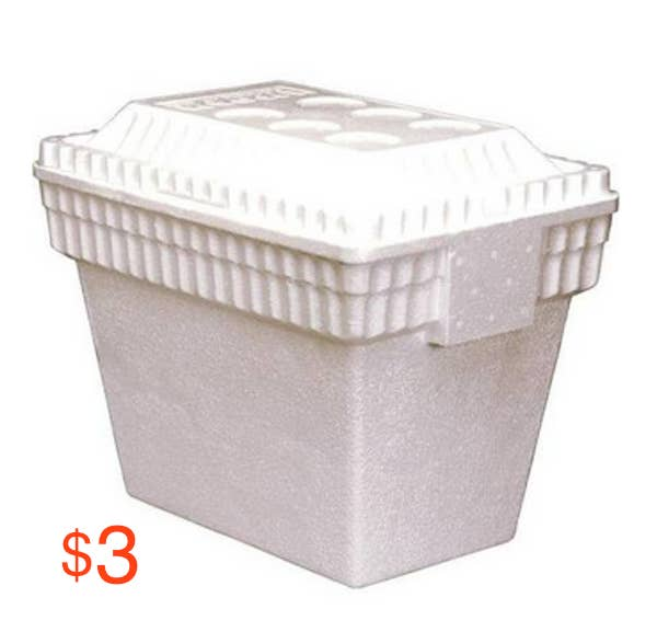 Buy a Styrofoam cooler for a just a few bucks and fill it up with ice from the hotel's ice machine. Then use it to store everything from Greek yogurt, to string cheese, to baby carrots and hummus.
