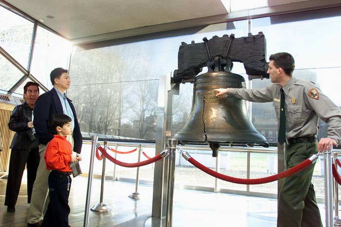 """When it arrived in Philadelphia he was like, """"Fuck this bell is getting more attention than me,"""" and tried to destroy it."""