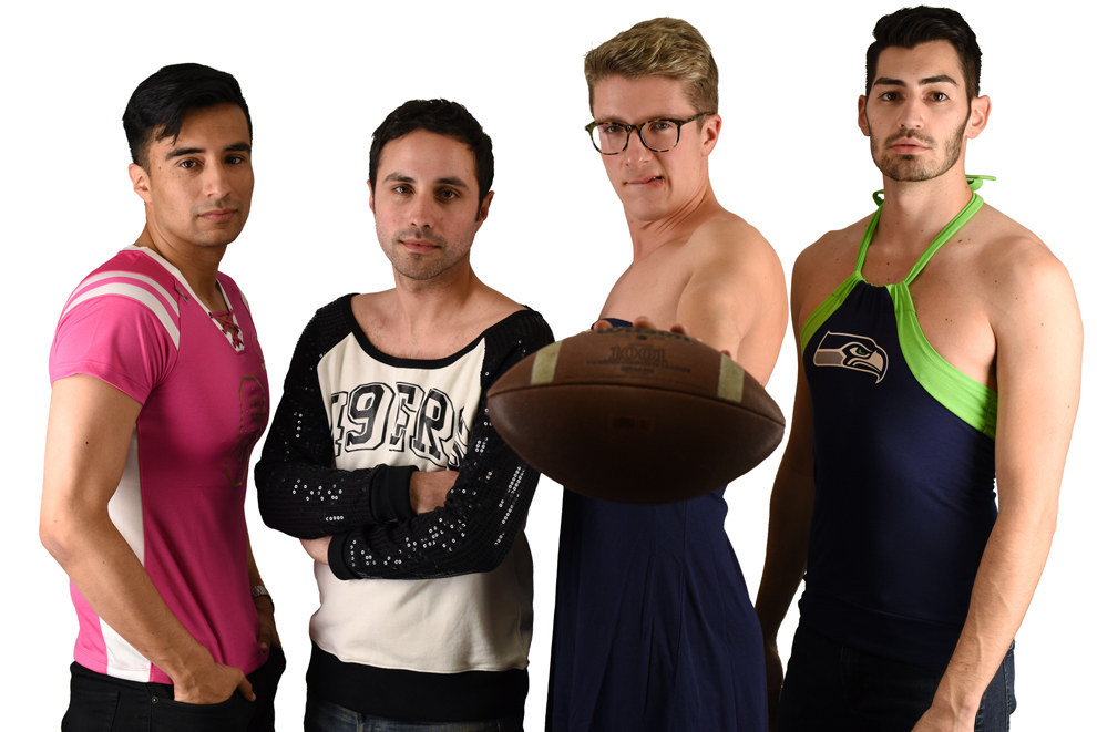 This Is What Happens When Men Try On Women's Football Apparel