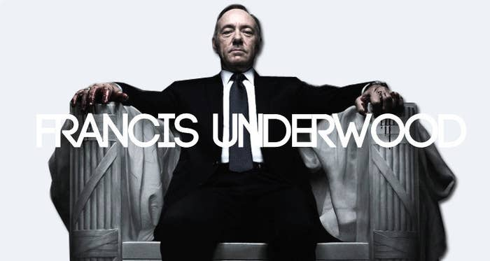 Okay, I'm just gonna go ahead and start with my personal favourite. House of Cards' Francis Underwood is a nasty piece of work. This sinister politician will step on just about anyone to get what he wants; as you can see, he has blood on his hands. He acts like an angel when he's in the public eye- but then again, Lucifer was an angel too. So why is this character so romanticized? Part of what makes this show so special is the sense of impending dread that drives it forward; at frequent points, viewers are made to think and be scared- no, this man should never have this much power, no one should have this much power. Well, House of Cards has this amazing way of breaking the Fourth Wall; Underwood's monologue is verbalized by Underwood himself throughout both seasons, and eye contact with the audience is made. There's also the fact that he's rich, smart and gets a lot of action, which isn't going to hurt when it comes to making the show's audience like himOh, and who's super excited for the third season? I know I am!