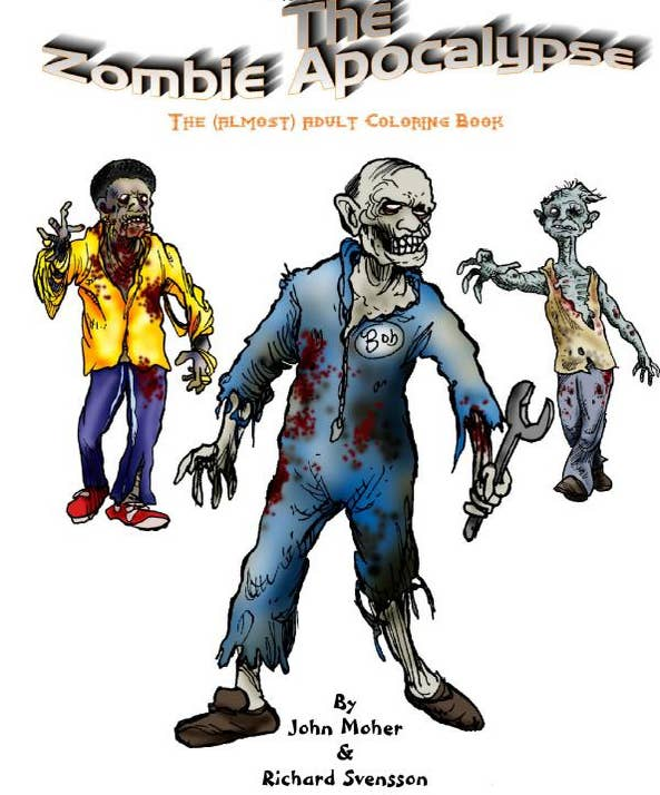 The Zombie Apocalypse Almost Adult Coloring Book