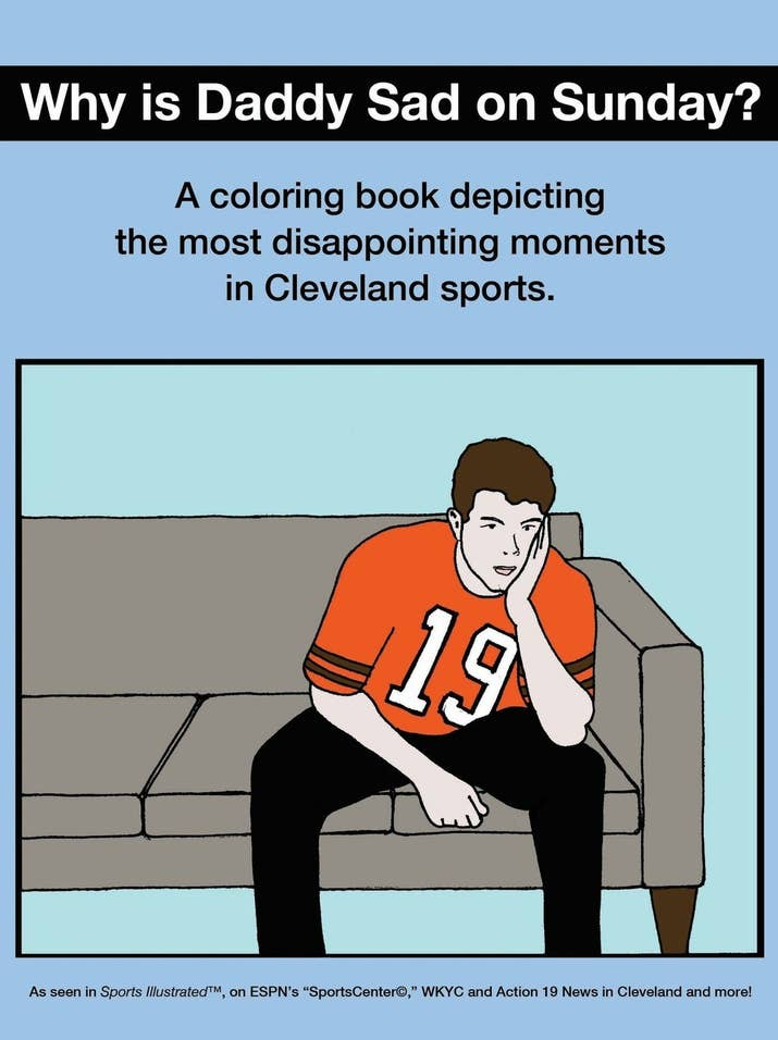 A Coloring Book Depicting The Most Disappointing Moments In Cleveland Sports