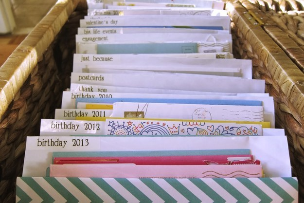 insanely clever organization tips to make your family's lives, Greeting card