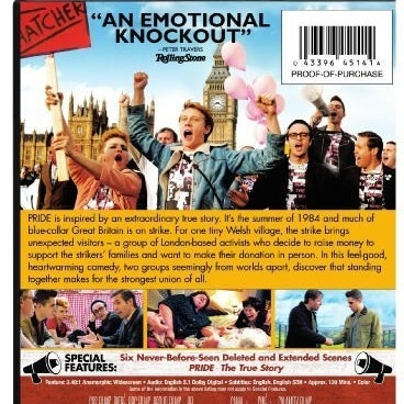 The back of the U.S. DVD box for Pride