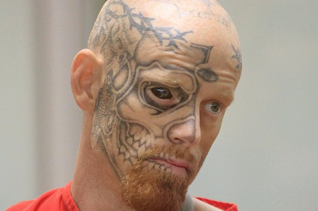 dude with a tattoo on his eyeball sentenced to 22 years for shooting