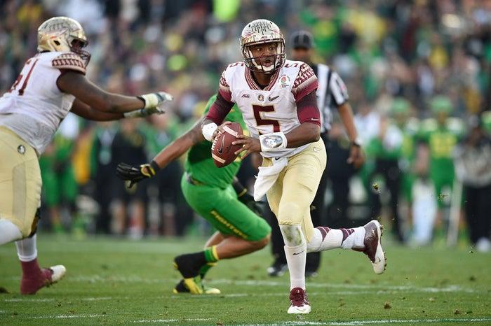 Florida State Seminoles quarterback Jameis Winston during the first half of the 2015 Rose Bowl.
