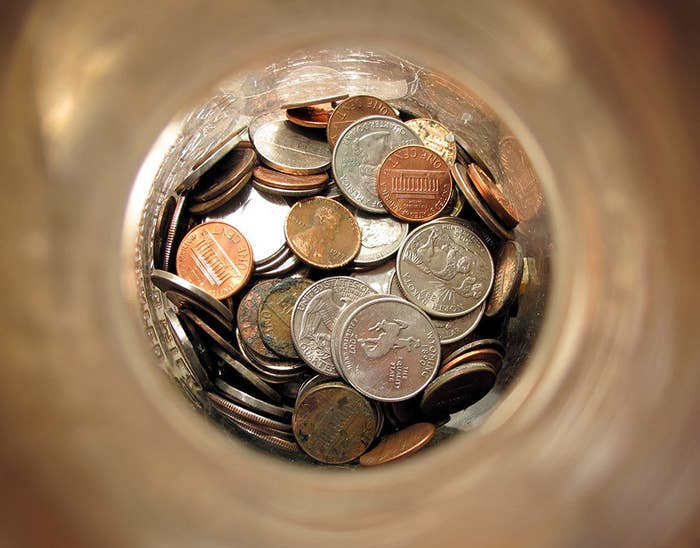 Saving your change in a jar may not seem like a big deal, but when the coins start to add up, you'll be surprised with what you have saved.