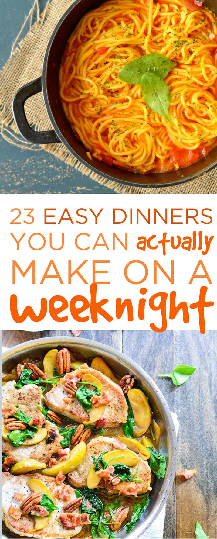 23 easy dinners you can actually make on a weeknight share on facebook share forumfinder Choice Image