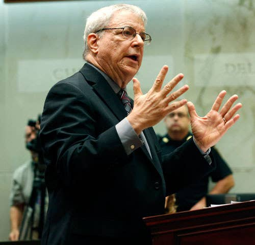Attorney Steven Wise of the Nonhuman Rights Project argues on behalf of Tommy, a chimpanzee, before the New York Supreme Court Appellate Division on Wednesday, Oct. 8, 2014, in Albany, New York.