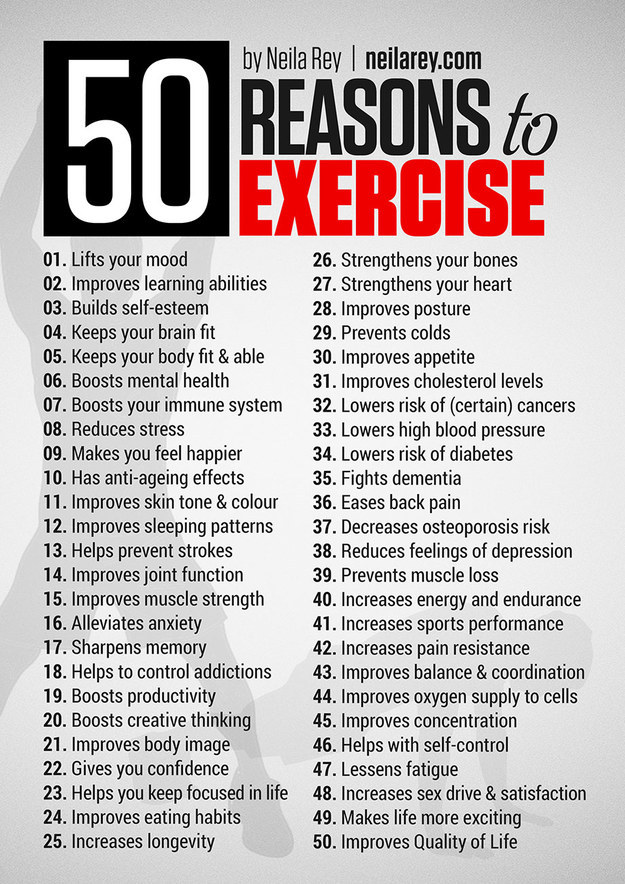 reasons to exercise