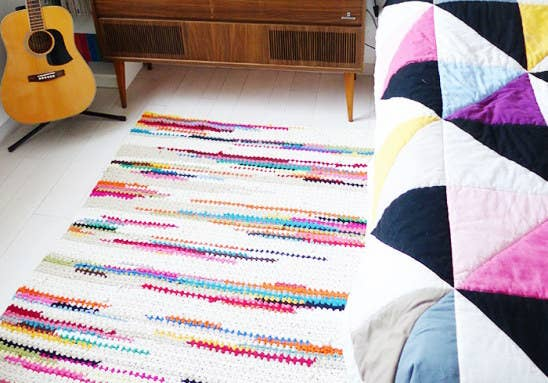 What's better than jumping out of bed onto a warm, cushy crochet floor mat?!