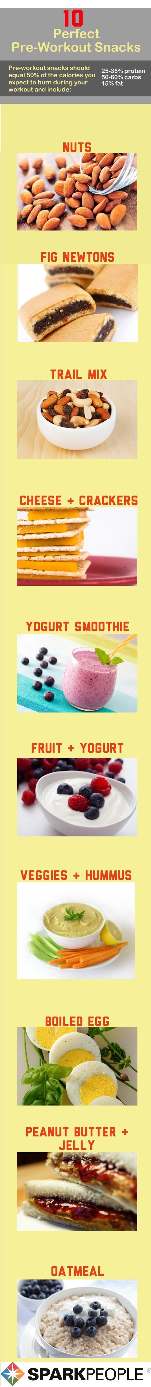 preworkout snacks to help you workout