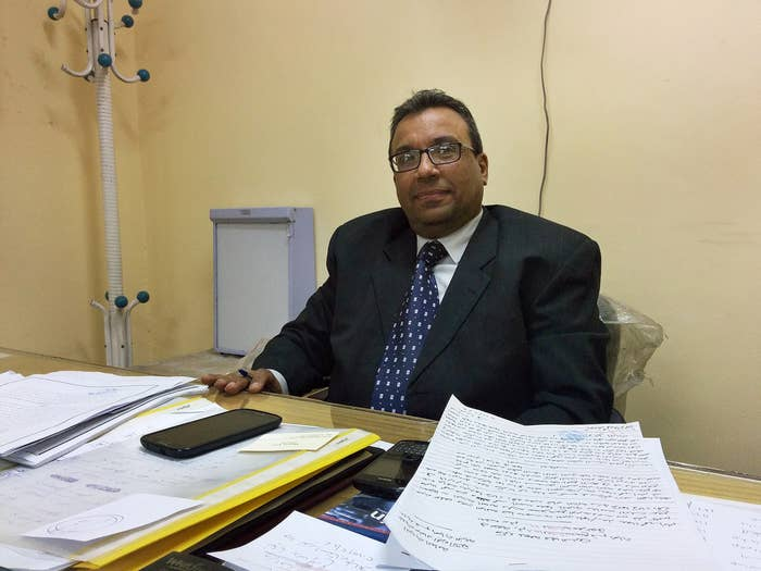 Dr. Maged Louis in his office in Cairo.
