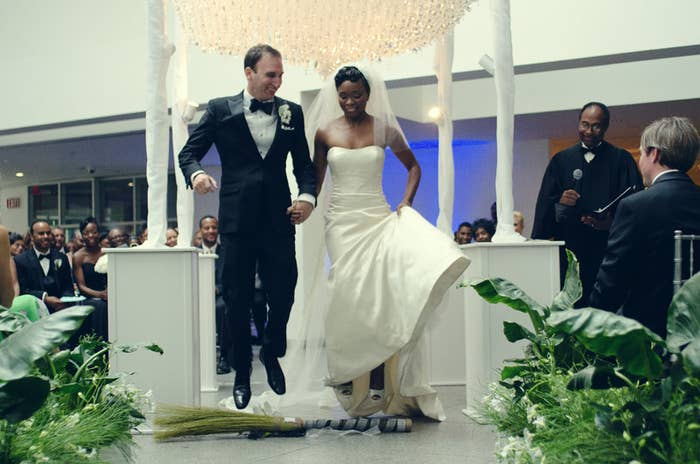 24 Couples Who Honored Their History And Jumped The Broom