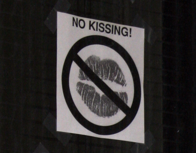 11. England - At a train station in Warrington, kissing travelers goodbye could get you in trouble.
