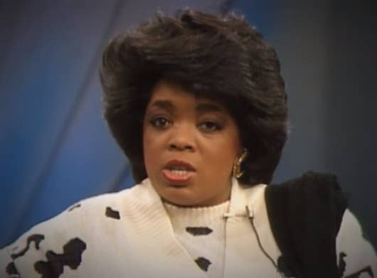 33 important moments in oprah hair history 1 premiere season poof urmus Image collections