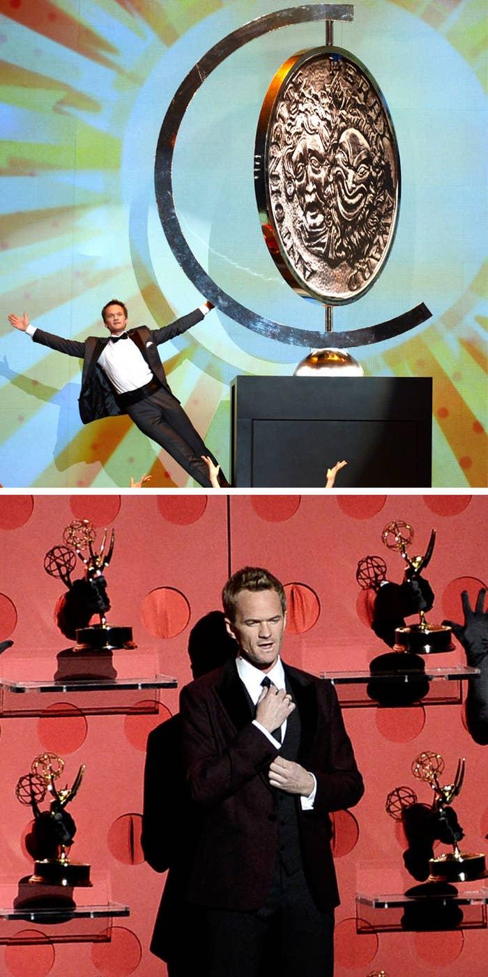 Neil Patrick Harris hosting the 2013 Tony Awards, and the 2013 Emmy Awards