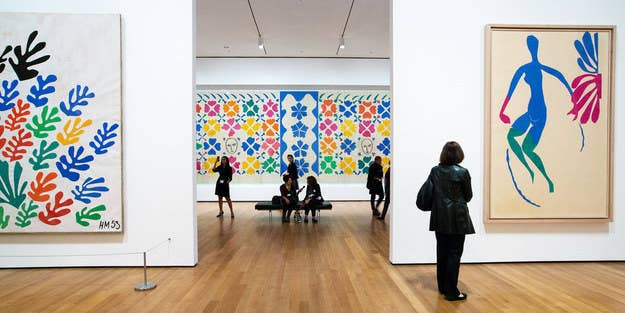 During the final decade of Henri Matisse's life, he never let his passion for art waver. He persistently trudged on, resorting to complete simplicity: scissors and paper. However, his work was far from simple. The Cut-Outs are an incredible, intricate work of art, that have been on display in New York City at The Museum of Modern Art (MoMA) for the past 3 months. I went to see the Exhibit on Saturday, January 24th, and found myself almost as compelled by the people, as by the art.