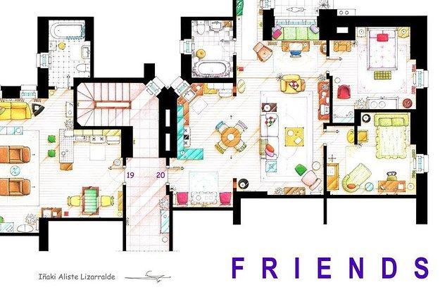13 Planos Increiblemente Detallados De Las Casas De Las Mas Famosas - Planos-de-casas-en-l