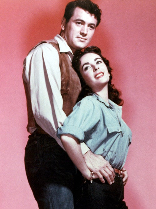 "Rock Hudson and Elizabeth Taylor in ""Giant,"" 1956."