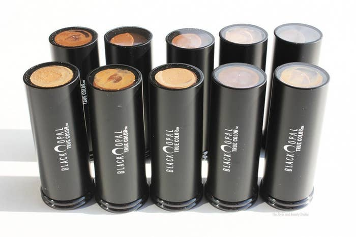 These foundation sticks are in the kit of nearly every makeup artist we work with at BuzzFeed — the shade range is great for women of color. It's a velvet finish somewhere between matte and dewy and looks great year round, regardless of the weather. They're also super affordable, at less than $10 a pop. They have other foundation types that vary in coverage, but not in quality: all tops on that front.