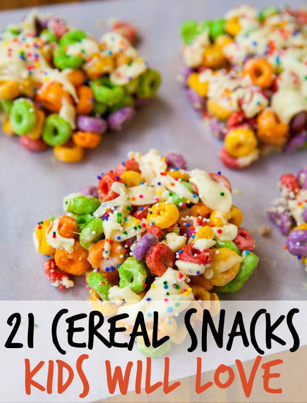21 fun and easy treats you can make with cereal share on facebook share ccuart Choice Image