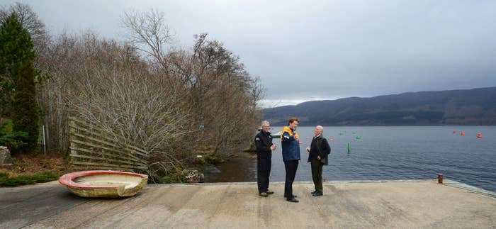 Danny Alexander meets the RNLI crew at their station on the banks of Loch Ness outside Inverness.