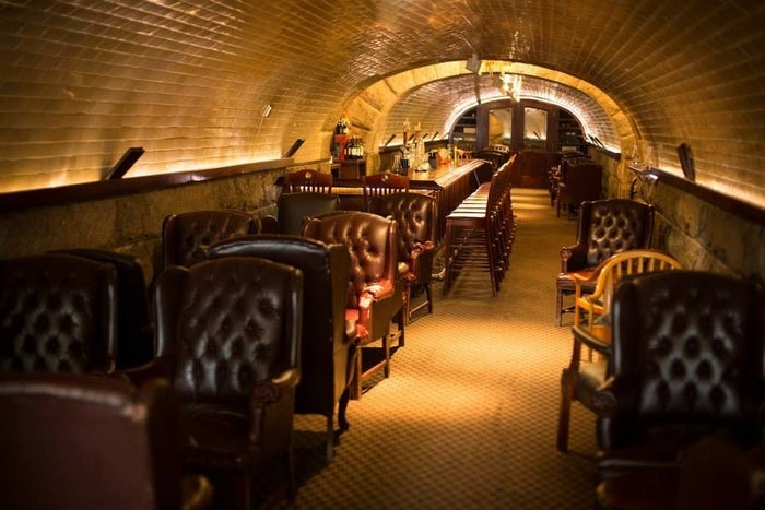"""""""The Tunnel Bar is built underground in an old pedestrian tunnel. The arched stone walls, sleek bar, and big, comfy chairs make it the ideal place for a classy evening out. I'd kill to go back there.""""—submitted by Bergin Smith, Facebook"""
