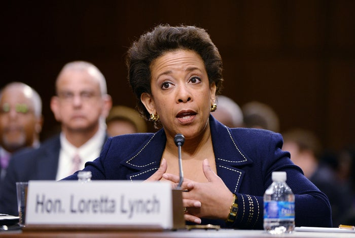 U.S. Attorney Loretta Lynch testified during a confirmation hearing before the Senate Judiciary Committee last month.