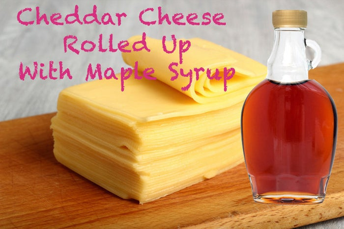 Satisfaction Factors: You've probably done the turkey and cheese roll-up thing. Bland much? Swap the deli meat for sweet and delectably sticky maple syrup, and roll up a protein-filled snack with much more complexity going on.