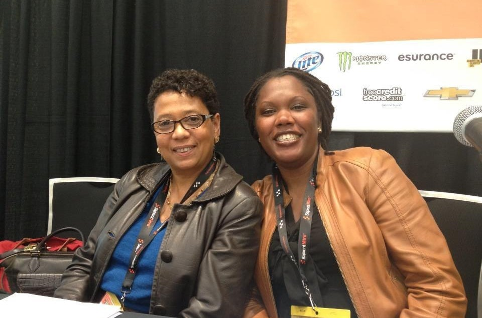 Dori Maynard, left, at a SXSW event in 2013.