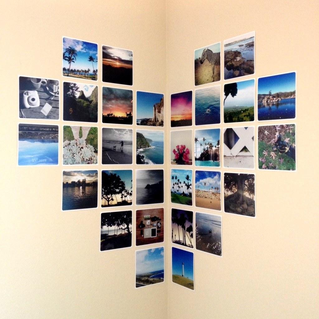 Как сделать фотографии на стену без рамок