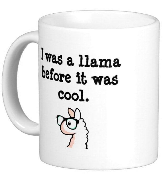 Hipster Llama Mug, $16.95