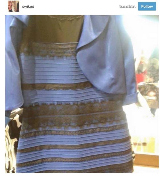 La Internet explota por el color de un vestido: ¿ES BLANCO Y DORADO ...