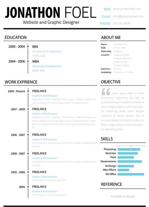 The Left Hand Side Of This Resume Is All Business While Right Allows You To Express Your Personality