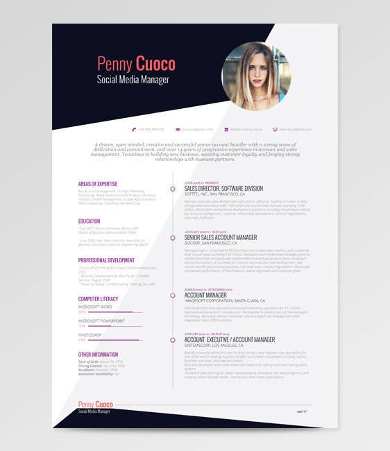 using a picture of yourself on your rsum used to be seen as something you should never donot anymore - Creative Free Resume Templates