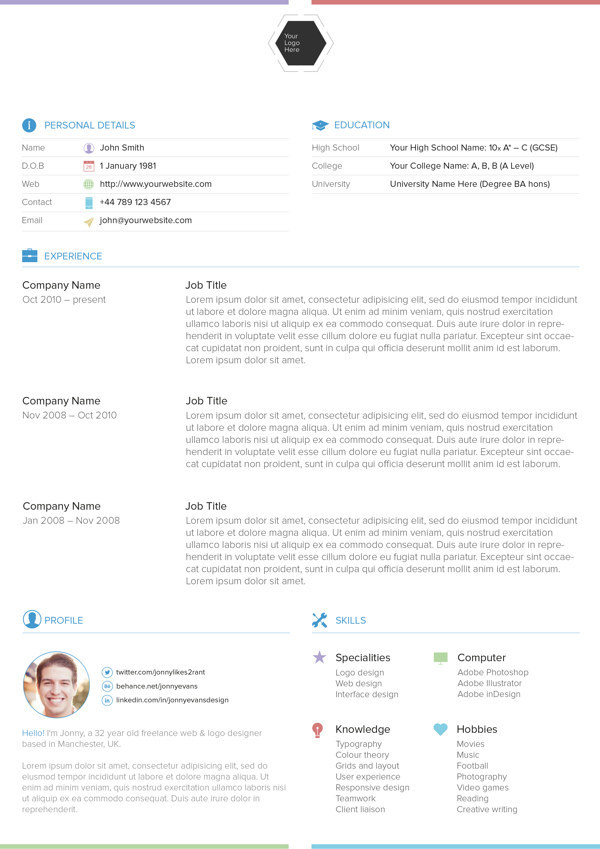 Resume Templates For Free 30 free beautiful resume templates to download hongkiat View This Image