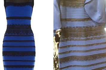 Black and blue dress original pictures