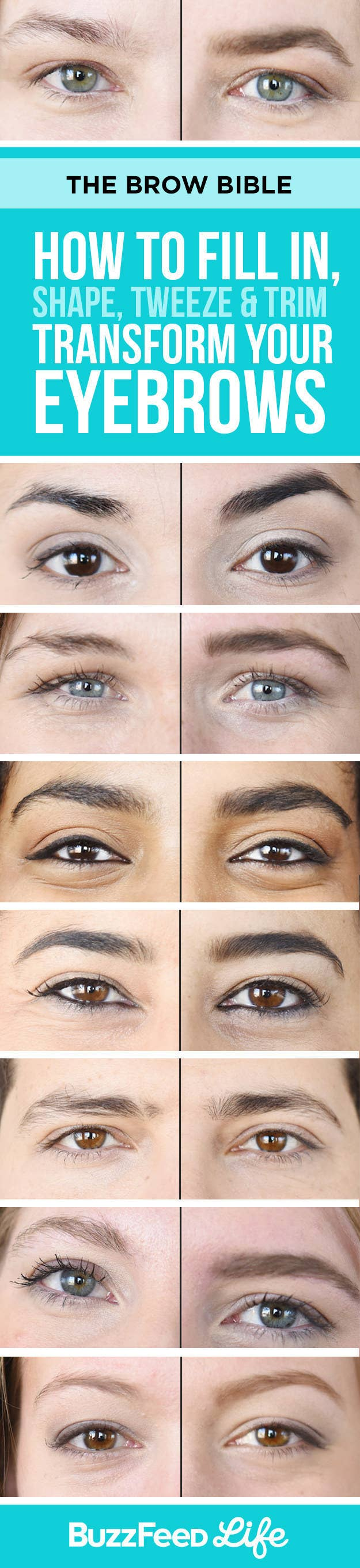 How To Fill In Shape Tweeze Trim And Transform Your Eyebrows