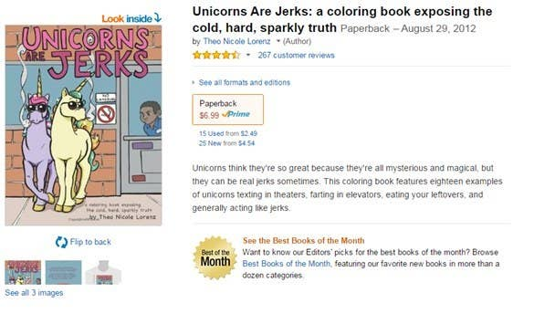 just a simple coloring book - Unicorns Are Jerks Coloring Book
