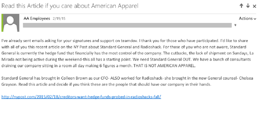 American Apparel Ceo Fights Back A Pro Dov Charney Email