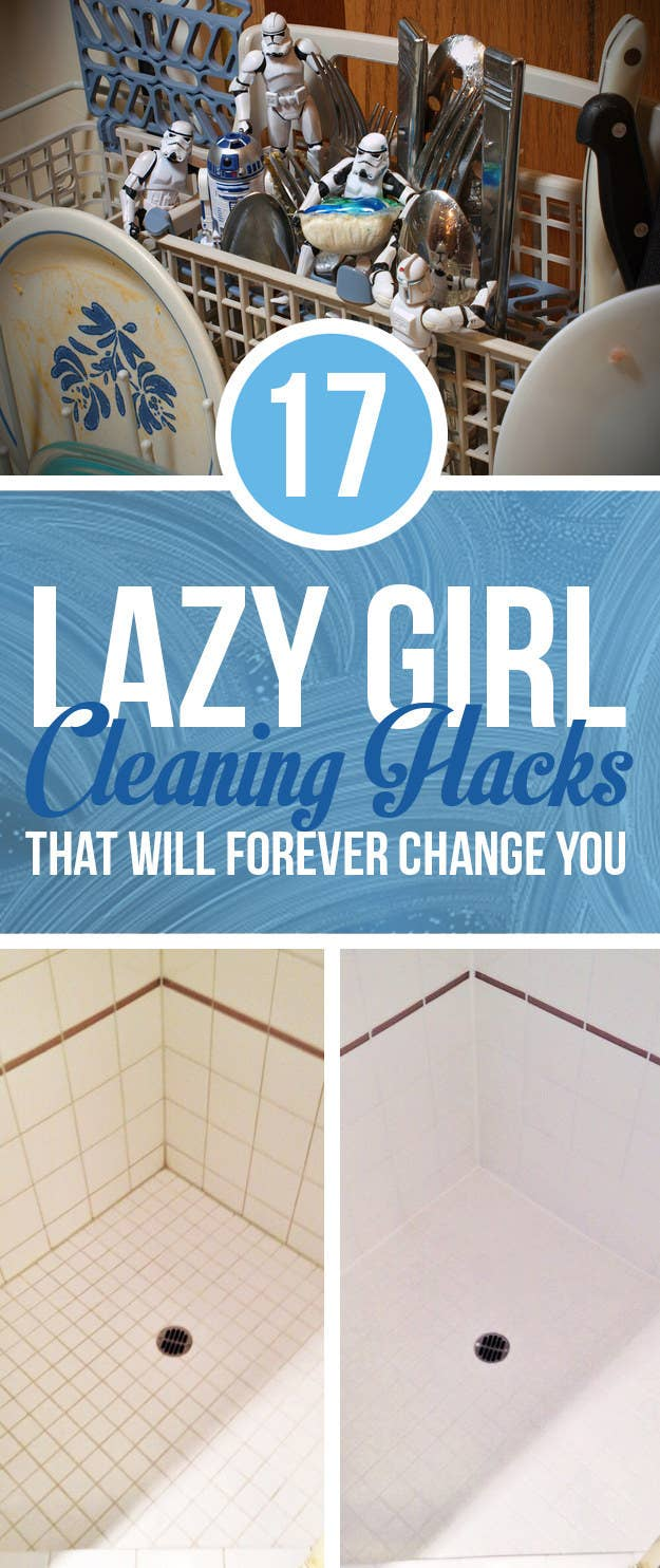 Lazy Girl Cleaning Hacks That Will Forever Change You - Cleaning hacks bathroom