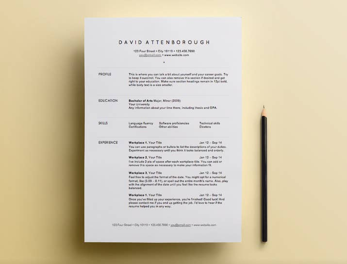 this template by amy dozier is so freshso clean - Free Resume Templates For Mac