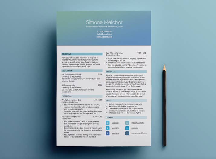 15 heres a beautiful less graphically intense header option - Free Design Resume Templates