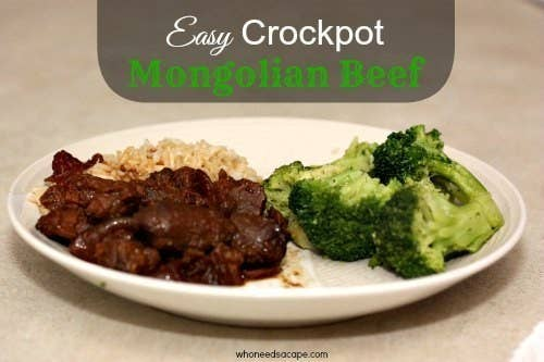 Crockpot Mongolian Beef. A very easy recipe and always a family favorite!Go to the recipe HERE