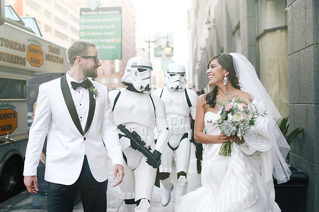 """""""The cherry on top for both of us was getting Stormtroopers from the 501st Legion to be a part of the wedding,"""" she said. """"It was an absolute dream come true!"""""""