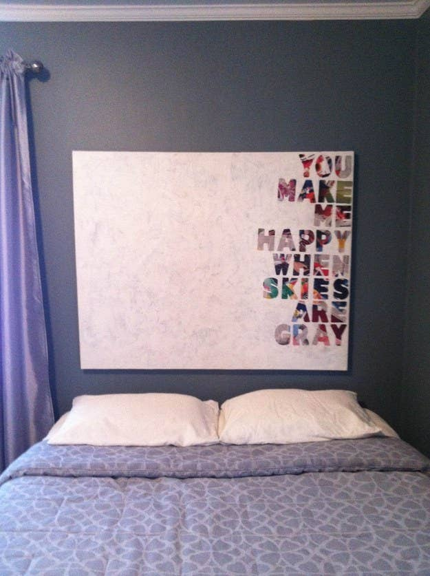 18 simple diy canvas wall hangings to brighten any room quotes on canvas solutioingenieria Gallery